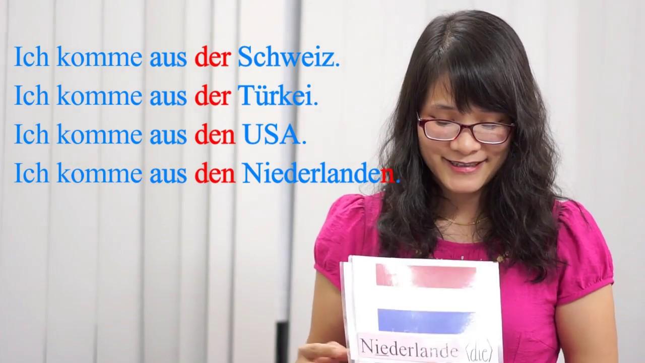 Học tiếng Đức cùng cô Thùy Dương-Bài 3: Bạn từ đâu tới và cách phát âm tên một số quốc gia