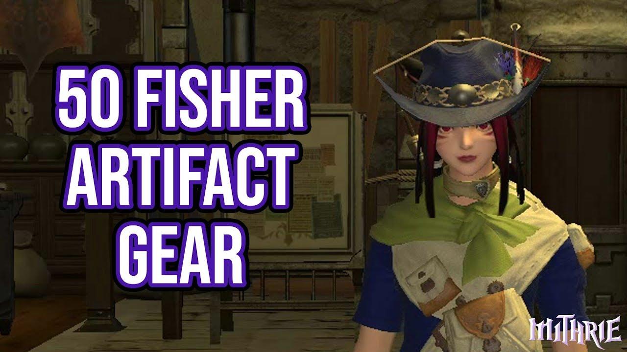 FFXIV 2 0 0109 Fisher Quest Level 50 + Artifact Gear