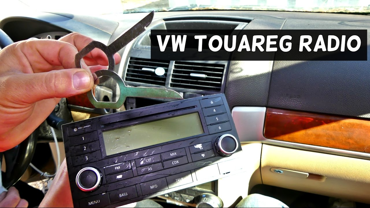 VW TOUAREG RADIO REMOVAL REPLACEMENT CD PLAYER  YouTube