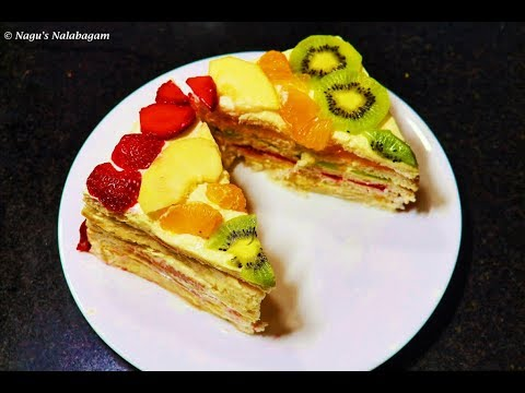 cake with bread slices bread fruit cake recipe no bake cake recipe fruit cake in 5 mins