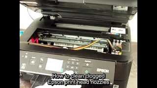 How to clean clogged Epson print head nozzles.