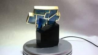 sculpture verre bronze carte centre du québec