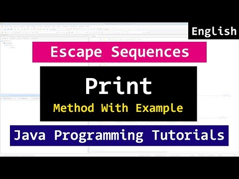 14 | Escape Sequences, print and println method  | Java Video Tutorial for Beginners