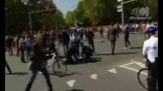 Car hits crowd at Queensday in Holland.