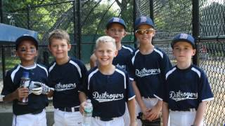 9u dunellen destroyers baseball 2016 season