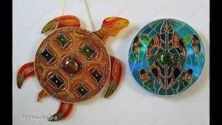Поделки для украшения дома своими руками из компьютерных дисков, cd дисков