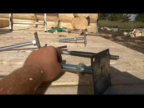 Немного о КОМПЕНСАТОРАХ усадки сруба # Как пристроить террасу к бане