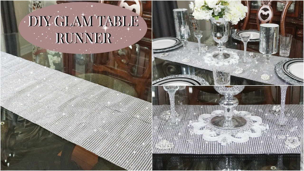 Dollar Tree Diy Diy Glam Table Runner Tablescape Ideas Youtube
