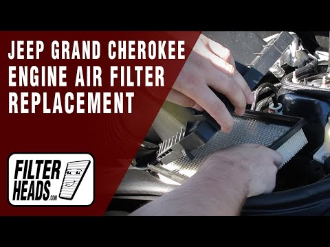 how to replace engine air filter 2011 2014 jeep grand. Black Bedroom Furniture Sets. Home Design Ideas