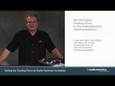 How to Set Tracking Force on AT-LP120-USB and AT-LP1240-USB Turntables