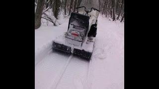 Снегоход Буран 4Т: первый выезд в сезоне.