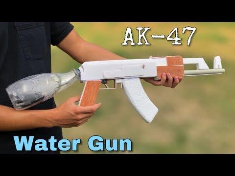 How To Make AK 47 Water Gun At Home - Amazing Electric Water Gun