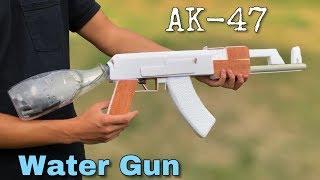 كيفية جعل AK 47 مدفع المياه في المنزل مذهلة الكهربائية مدفع المياه