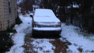 Snowing in Hope Arkansas !.wmv