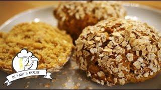 Haferflockenbrötchen ruck-zuck (ohne Mehl und Gehzeit)