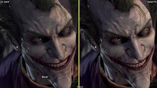 Batman Arkham Asylum E3 2009 Demo vs Retail PC Graphics Comparison