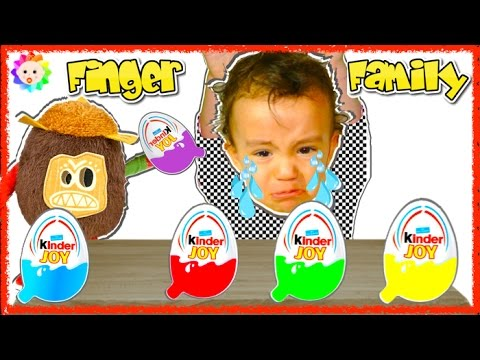 Thumbnail: BABY FINGER Family w/ Kinder Eggs Kakamora Moana Nursery Rhymes 4 Learn Colors | Babies Crying Song