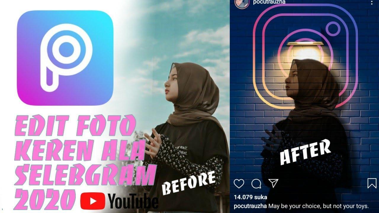 Cara edit foto picsart kekinian | mudah | 2020 - YouTube