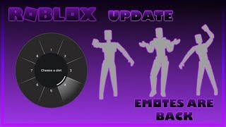 Roblox Emotes are Here/Back I How to Equip/Use And Buy Them [PC / Mobile]