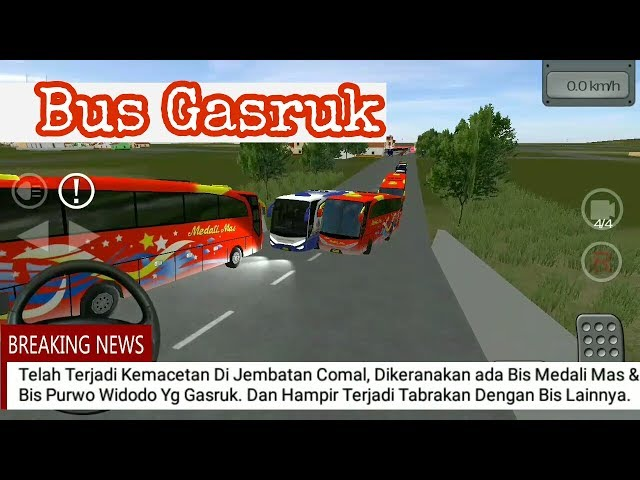 Breaking News BUS GASRUK DI JEMBATAN COMAL || BUSSID CHANEL