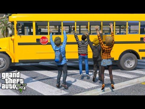 GTA 5 REAL LIFE TEEN MOD #1 HIGH SCHOOL