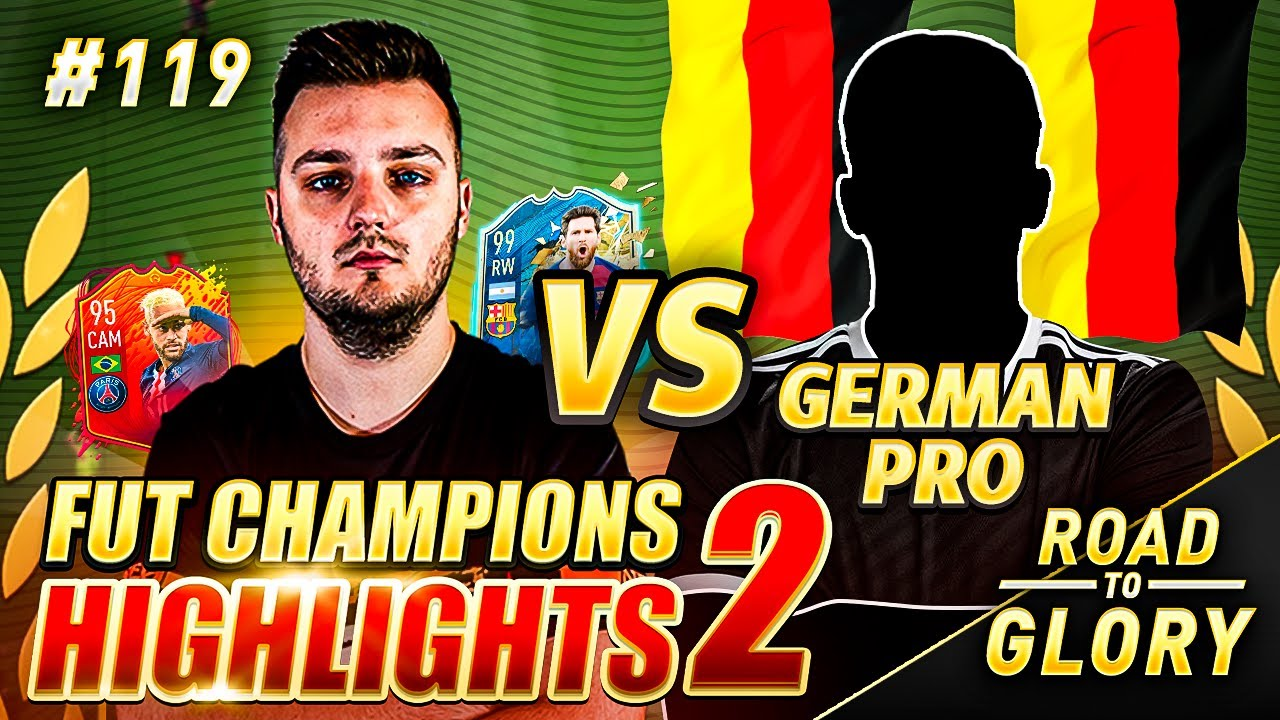 WE PLAY A GERMAN PRO PLAYER! FUT CHAMPS ON THE ROAD TO GLORY! FIFA 20 ULTIMATE TEAM #119