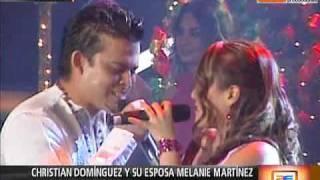 Christian Domínguez y su esposa Melanie se enfrentaron (América Espectáculos 23-11-09)