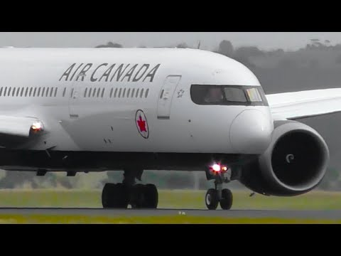 INAUGURAL   Air Canada Boeing 787-9 NEW LIVERY Landing & Takeoff ● Melbourne Airport Plane Spotting