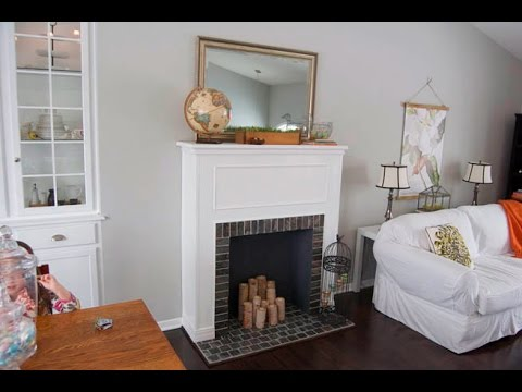 como hacer chimeneas falsas decorativas youtube