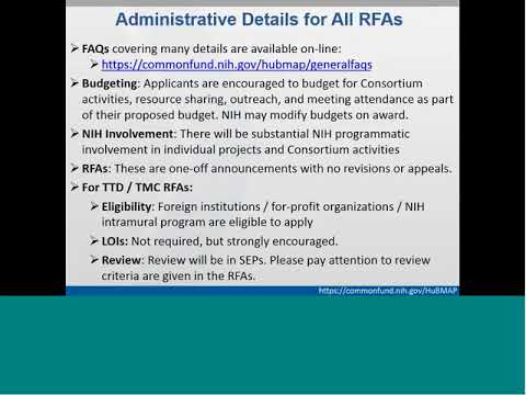Human BioMolecular Atlas (HuBMAP) Pre-Application Webinar for RFA-RM-17-025 and RFA-RM-17-027