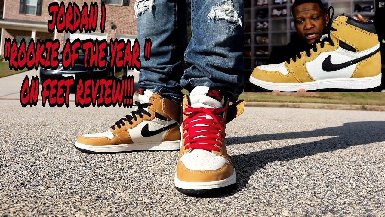 a9e8033458a0c6 EARLY REVIEW!!! JORDAN 1 ROOKIE OF THE YEAR ON FEET!!! - YouTube