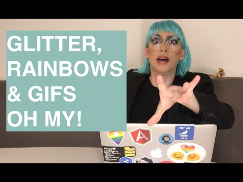 Glitter, Rainbows And Gifs, Oh My!! Full Glam HTML/CSS Text Texturing