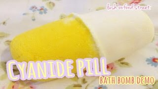 cyanide pill bath bomb lush oxford street demo