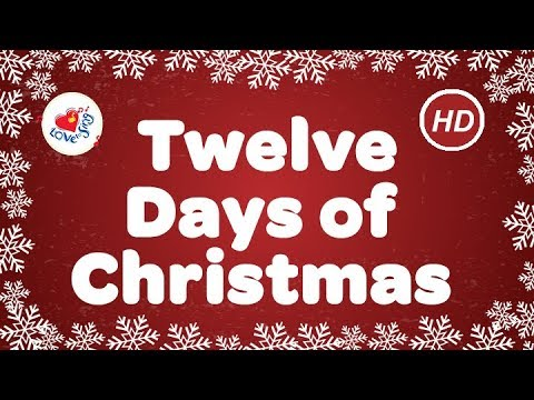Twelve Days of Christmas Lyrics HD | Popular Christmas Songs | Children Love to Sing
