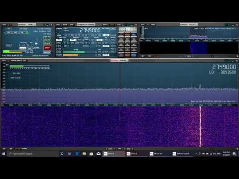 VCS Halifax Radio Weather Nova Scotia Canada 0140 UT 2749 Khz USB Shortwave