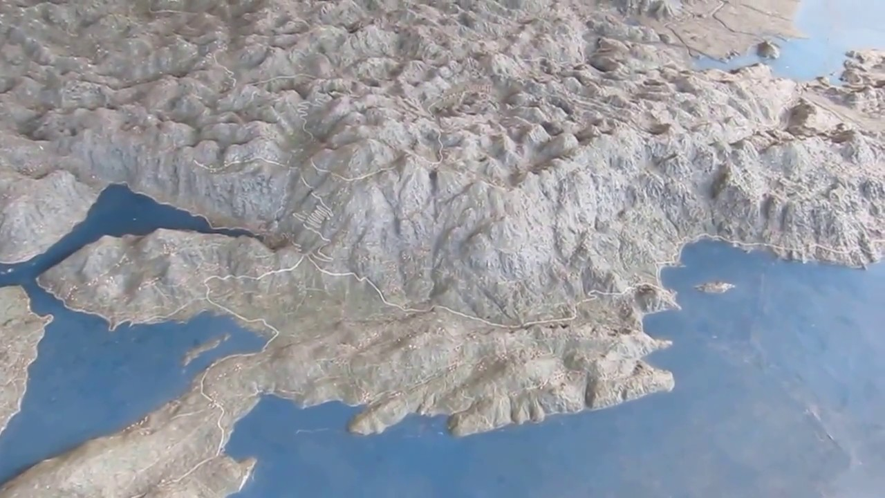 mapa crne gore 3d Reljefna karta Crne Gore, kod Biljarde na Cetinju   YouTube mapa crne gore 3d