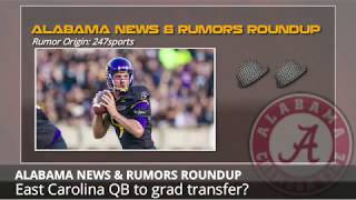 Alabama Football Rumors: Transfer QB to Join Team, New Football Facilities and Coaching Changes
