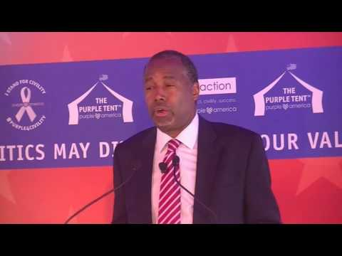 Dr. Ben Carson in the Purple Tent – Fiscal Irresponsibility