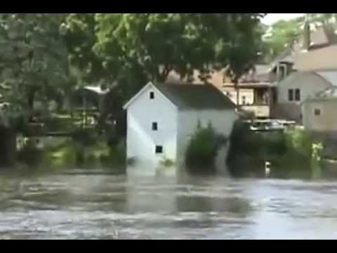 Fort Atkinson Downtown During The Flood Of 2008