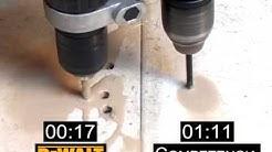 Brocas diamantadas DEWALT para porcelanato vs p.flecha