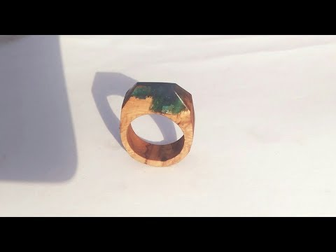 Resin and wood ring | resin ring |epoxy art