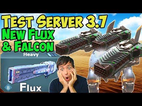 War Robots Test Server New Robot Falcon & Heavy Weapon Flux Gameplay WR