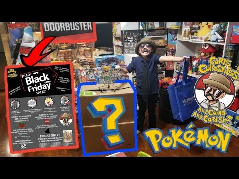 BEST BLACK FRIDAY SALE ON POKEMON CARDS EVER! MYSTERY SHIPMENT BOXES? SHADY BLACK FRIDAY FREEDAY!#49
