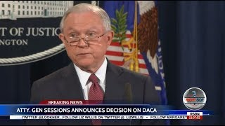 President Trump ENDS DACA: FULL  Announcement by Jeff Sessions Free HD Video