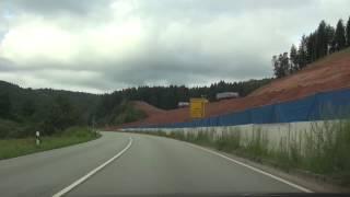 Autofahrt Dahn/Pfalz - Frauenstein B10-Abfahrt Münchweiler Germany 18.8.2014 T3
