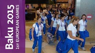 Team Italy arrives in Baku | Baku 2015