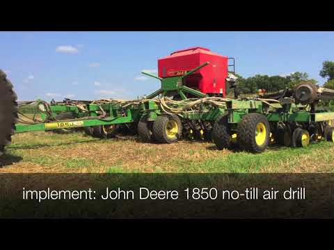 Rock County Cover Crop Project - cover crop seed drill
