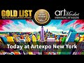 ★ It starts today! ★ The GOLD LIST at Artexpo NY!