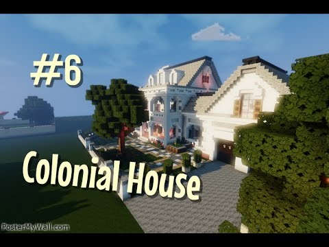 Minecraft Lets Build Colonial House Part 6 Youtube