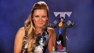 WWE Icon Series Undertaker resin statue unboxing with Renee Young